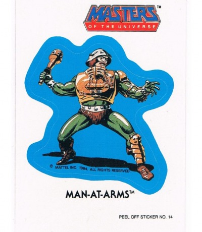 Man-At-Arms Sticker von Topps Masters of