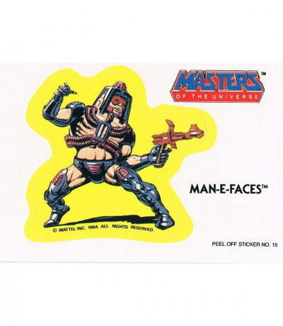 Man-E-Faces Sticker von Topps Masters of