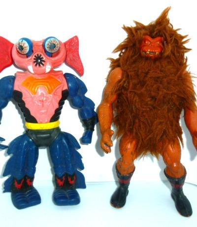 4 Mini Comics - Masters of the Universe He-Man MOTU - Stark bespielte Vintage Figuren