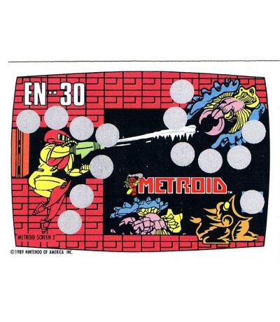 Nintendo Rubbelkarte Metroid Screen Nintendo Game