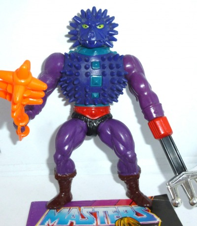Spikor mit Keule und Comic - Komplett - Masters of the Universe / He-Man - Actionfigur aus den 80ern.