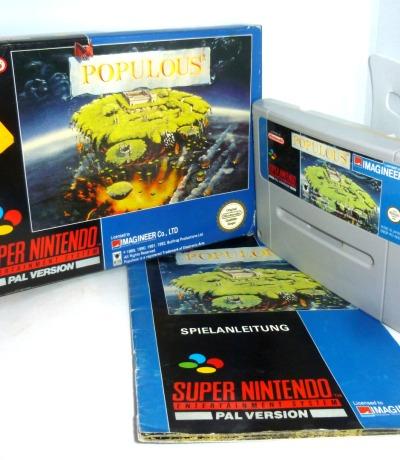 Nintendo SNES Populous Komplett OVP Pal