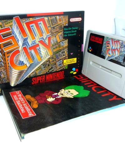 Nintendo SNES Sim City Komplett OVP