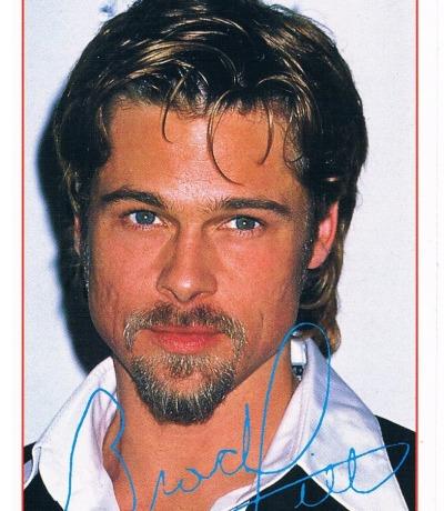 BRAVO Brad Pitt autograph card