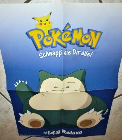 Pokemon Poster Relaxo Schnapp sie Dir