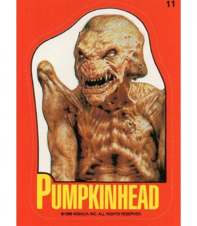 Pumpkinhead Das Halloween Monster Sticker Topps