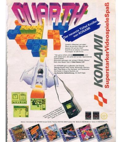 Konami Werbung - Quarth Game Boy