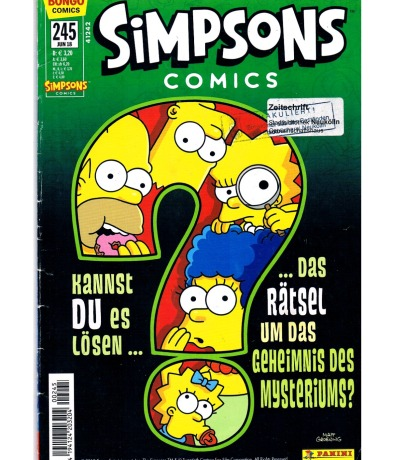 Simpsons Comics Heft Ausgabe Jun 2018