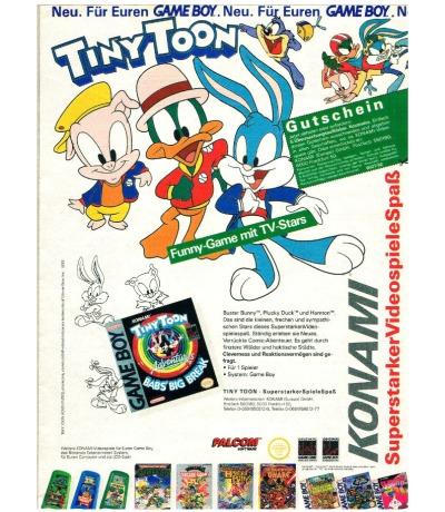 Konami Werbung Tiny Toon Adventures Babsbig