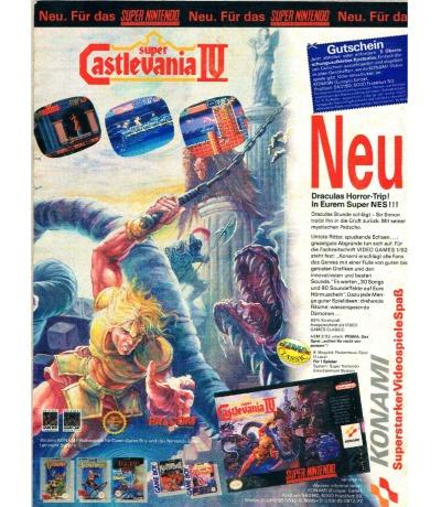 Konami Werbung Castlevania IV Super Nintendo
