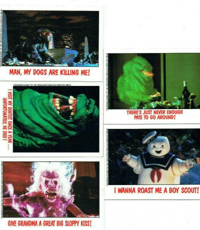 Ghostbusters - 5x Trading Cards