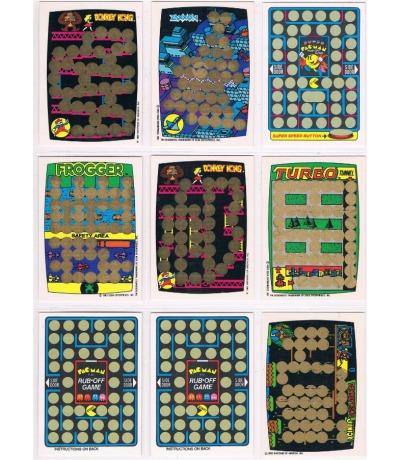 9x Game Rubbelkarten DONKEY KONG Pac