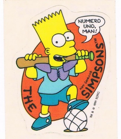 Panini Sticker Nr The Simpsons 1991