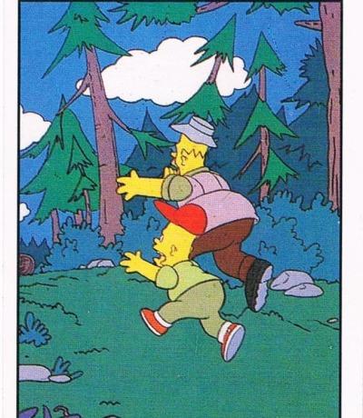 Panini Sticker Nr The Simpsons 1991