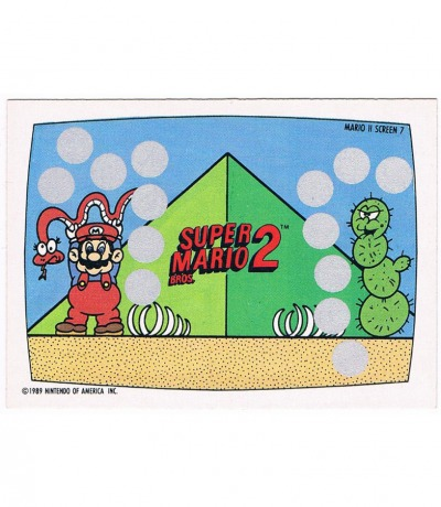Super Mario Bros Rubbelkarte Nintendo Game