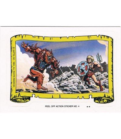 Beast Man Sticker von Topps Masters