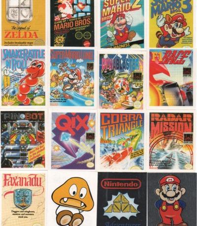 16x NES & Game Boy Sticker von 1992