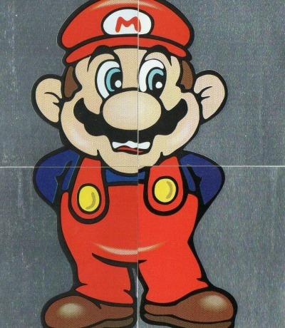 Super Mario Bros Sticker Nintendo Merlin