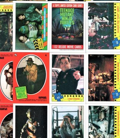 Movie Trading Cards Sticker Teenage Mutant