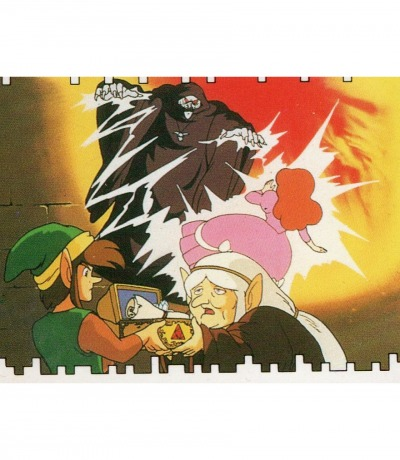 The Legend of Zelda - The Adventure of Link - Nintendo NES Sticker von 1989 - Nintendo Game Pack Serie 2
