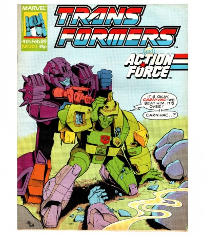 The Transformers - Comic - Generation 1 / G1 - 1989 - Feb 89 203 - Englisch - Transformers