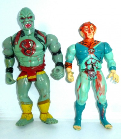 Thundercats Figuren Tigro Mumm-Ra schlechter Zustand