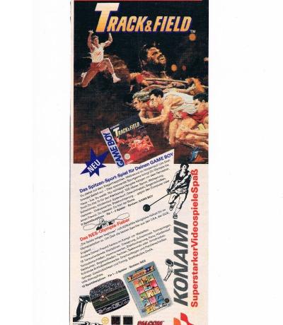 Track Field Nintendo NES Gameboy Konami