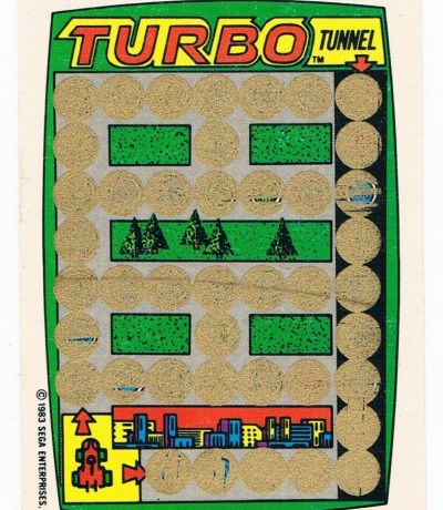 Turbo - Sega Rubbelkarte