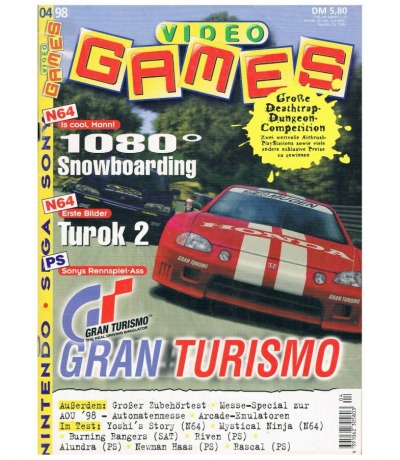 Ausgabe 4/98 Video Games Magazin Heft