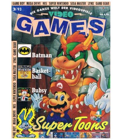 Ausgabe 3/93 Video Games Magazin Heft