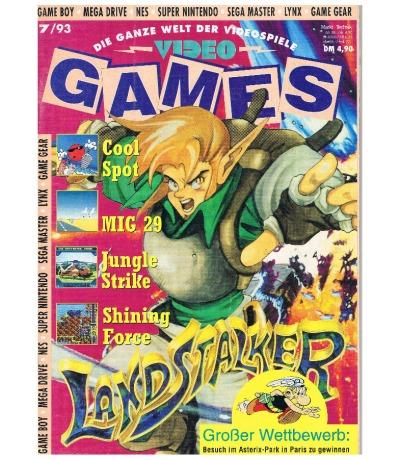 Ausgabe 7/93 Video Games Magazin Heft