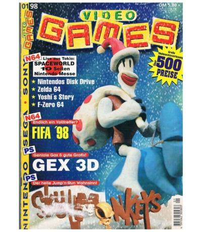 Ausgabe 1/98 Video Games Magazin Heft
