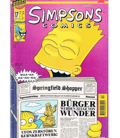 Simpsons Comics Heft Ausgabe März 1998