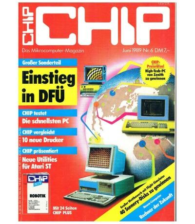 Chip Juni 89 Das Microcomputer Magazin
