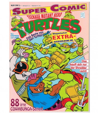 Super Comic Teenage Mutant Hero Turtles