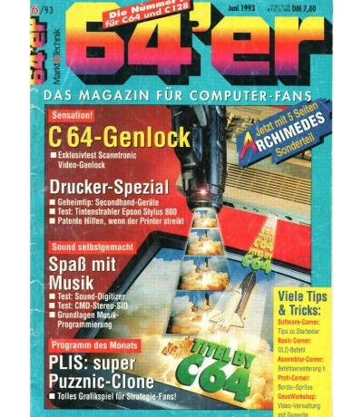 Ausgabe 6/93 1993 - 64er Magazin