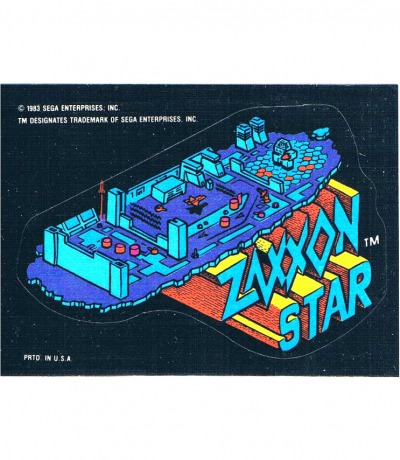Sega Sticker - Zaxxon Star