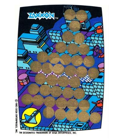 Zaxxon - Sega Rubbelkarte