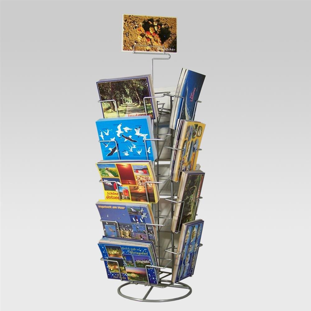 Postkartenständer Tischdrehständer für Gruß- und Postkarten
