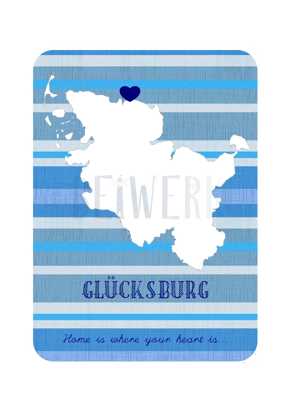 Postkarte Glücksburg home is