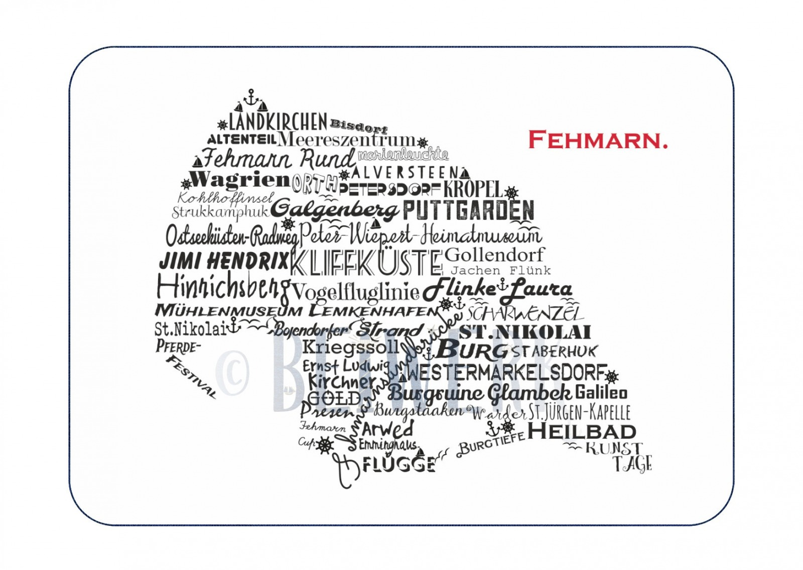 Postkarte Fehmarn PK-200