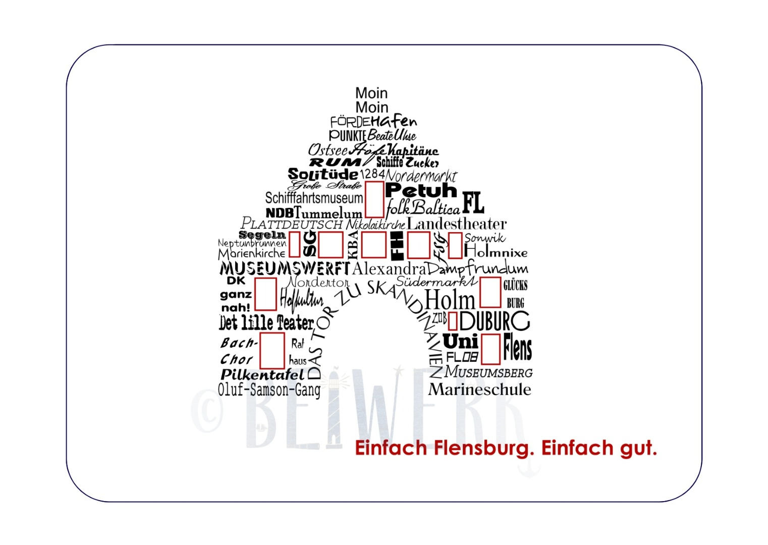 Postkarte individuell Word-Cloud