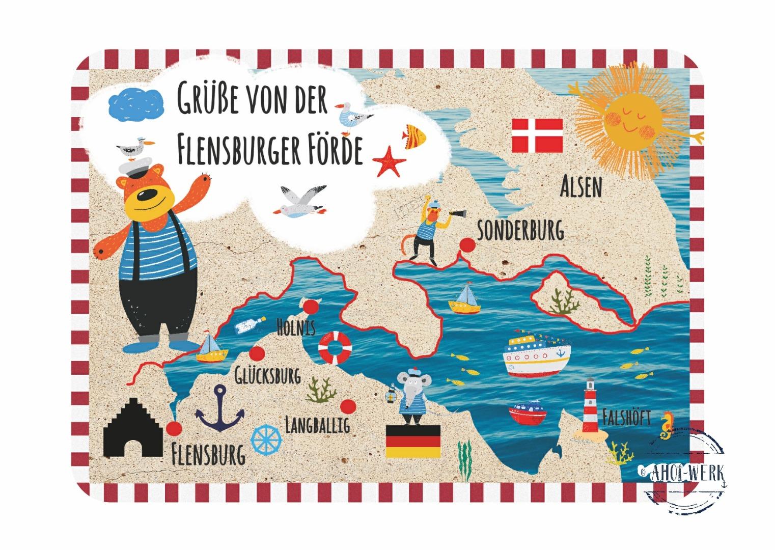Postkarte Flensburger Förde