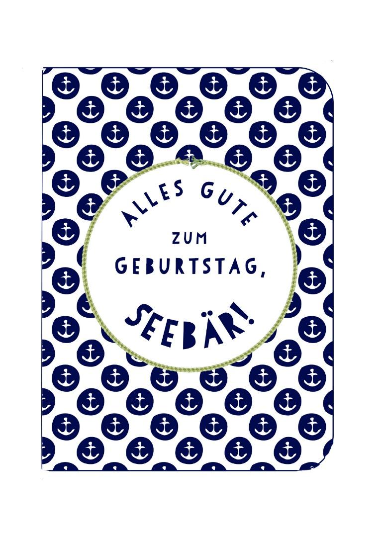 Gruß-/Doppelkarte Seebär b2b