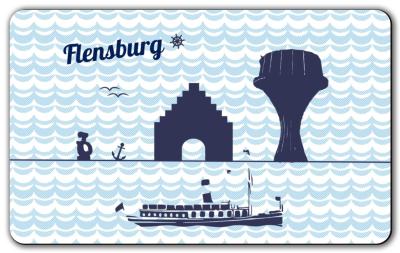 Frühstücksbrettchen Flensburg maritim