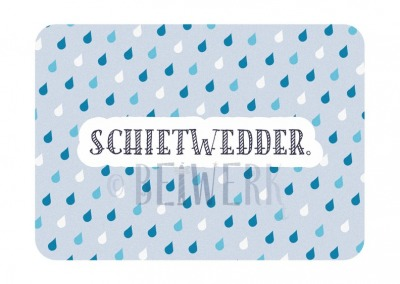 Postkarte Schietwedder