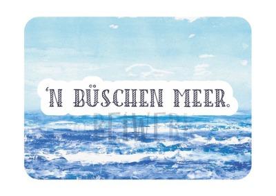 Postkarte Büschen Meer PL-02