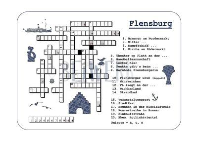 Postkarte Kreuzworträtsel Flensburg PK-79