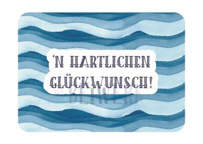 Postkarte Hartlichen Glückwunsch PL-08