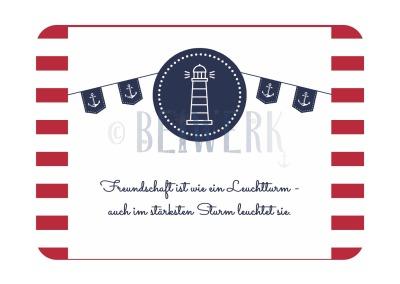 Postkarte Freundschaft/Leuchtturm PK-155